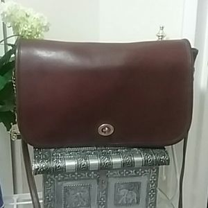 Early Coach Burgundy Convertible Clutch